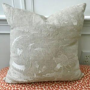 NWOT Custom Made Pillow w/ Designer Fabric